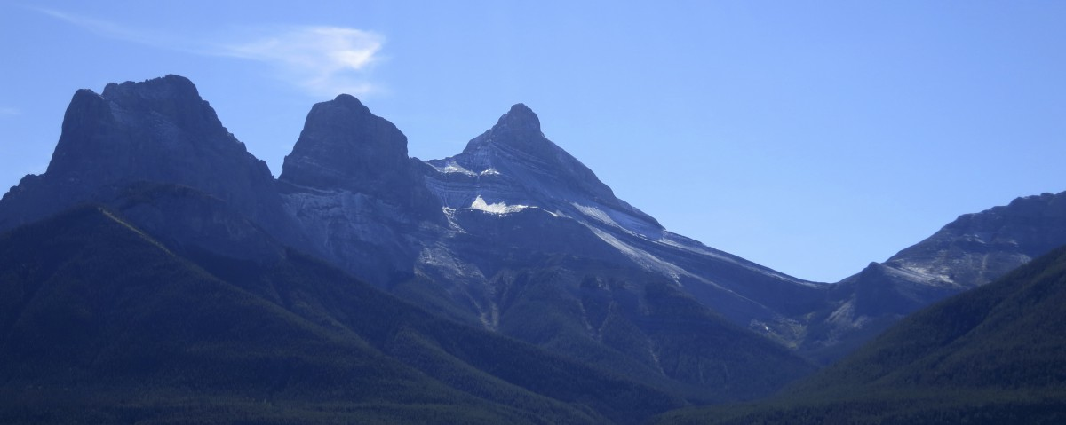 Three Sisters in the Rockies