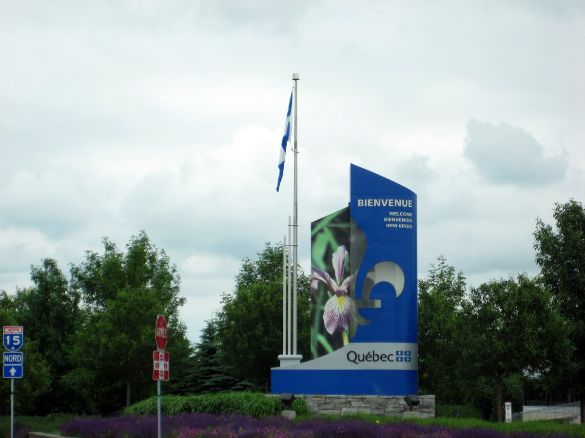 Entering Quebec